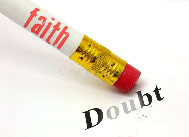 Faith erases doubt royalty free stock image