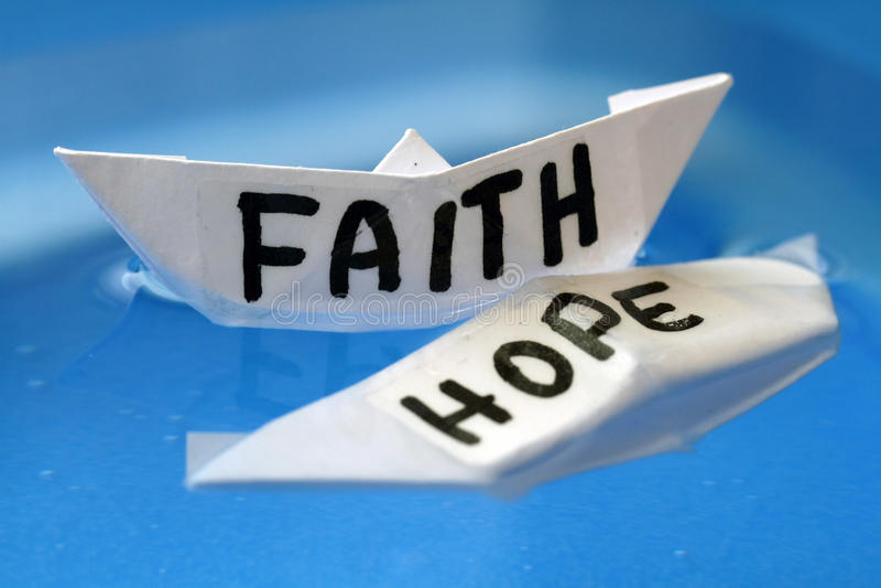 Faith & Hope. When the hope dies only the faith remains stock photos