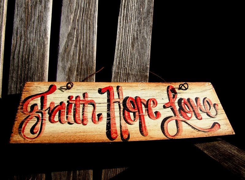 Download Faith, Hope Love Sign Stock Photo - Image: 7434620