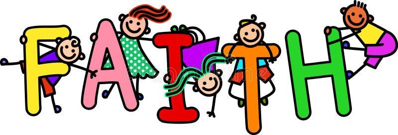 faith kids stock illustration illustration of religious 77404165 rh dreamstime com All Religious Clip Art Religious Symbols Clip Art
