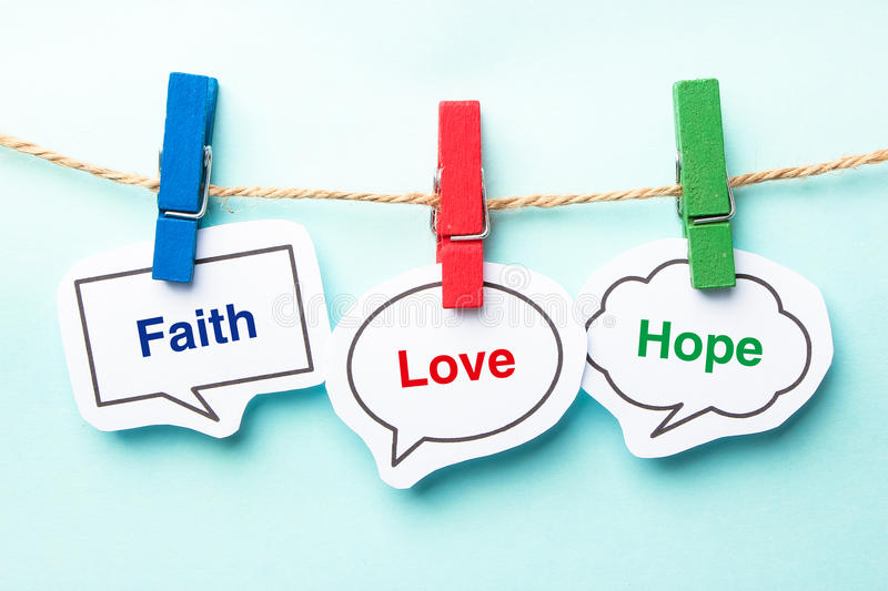 Faith love hope royalty free stock images
