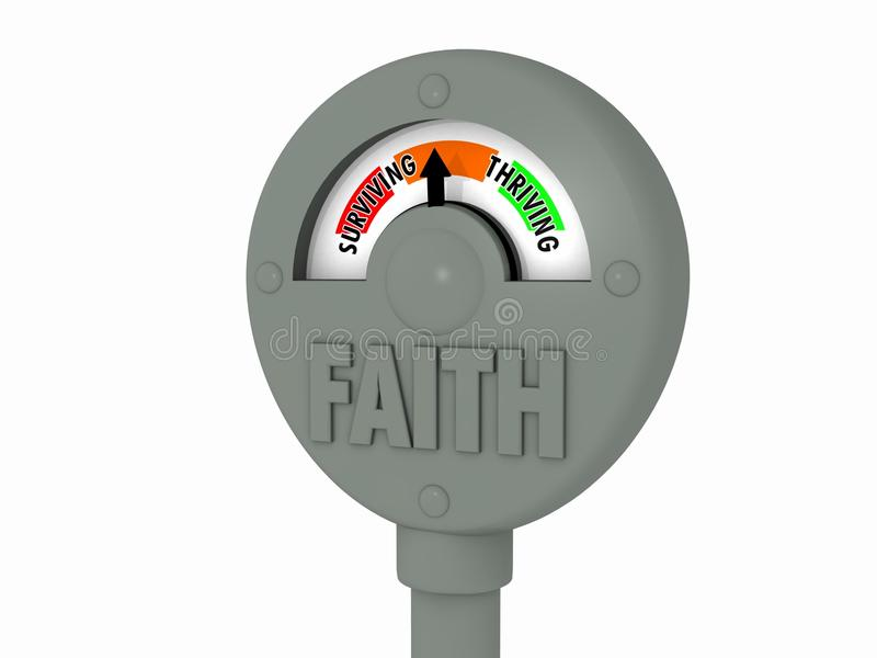 Faith Meter royalty free illustration