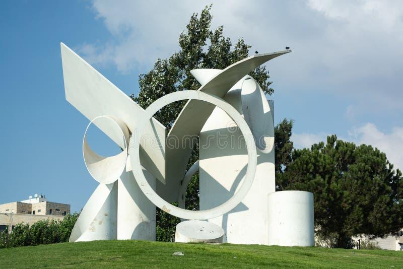 `Faith` sculpture by Alexander Liberman, 1987 stock image