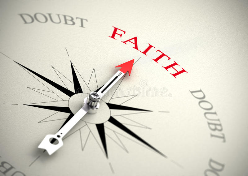 Download Faith Versus Doubt, Religion Or Confidence Concept Stock Illustration - Image: 31857337