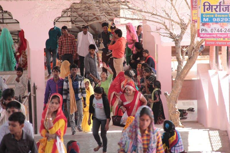 Faithful Devotees on pilgrimage in India royalty free stock photos