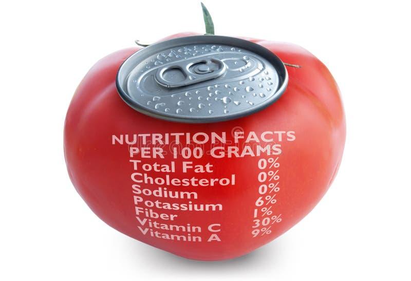 Faits de nutrition de jus de tomates image libre de droits