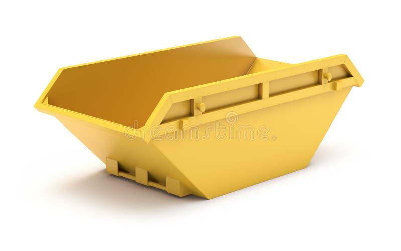 Faixa clara waste amarela ilustração do vetor