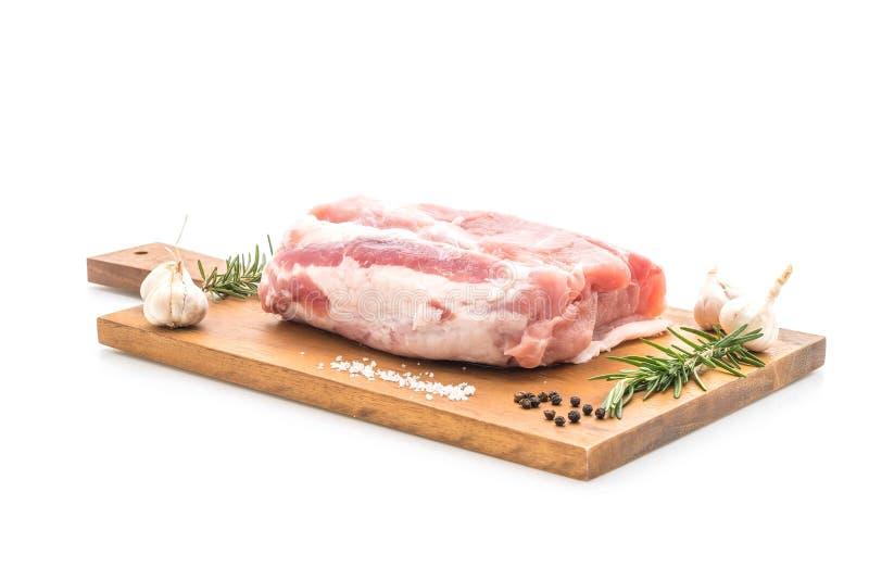 faixa crua da carne de porco fresca fotos de stock royalty free