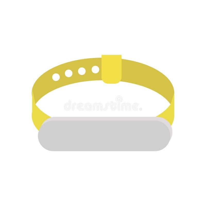 Faixa da aptidão, bracelete da mão ilustração stock