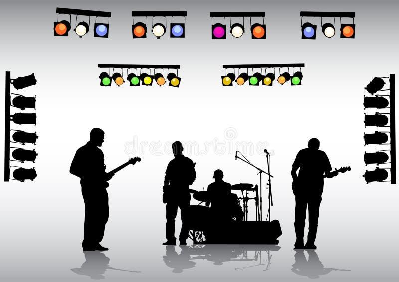 Faixa da guitarra ilustração do vetor