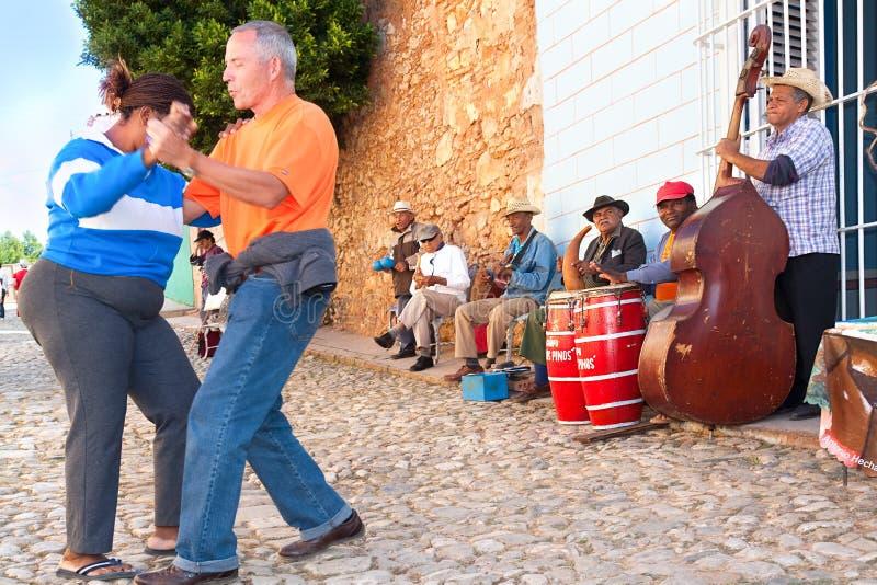 Faixa da salsa em Trinidad. fotografia de stock