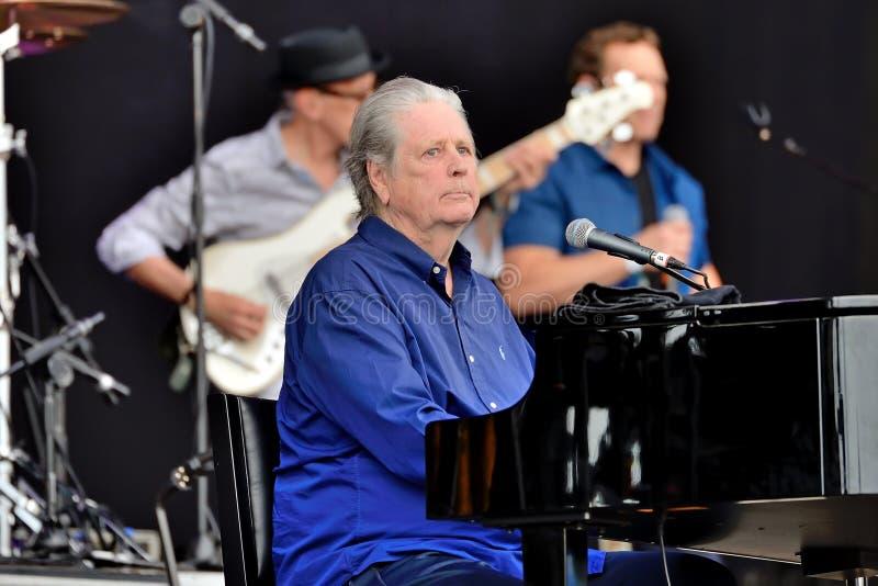 A faixa de Brian Wilson executa no concerto no festival 2016 do som de primavera imagem de stock