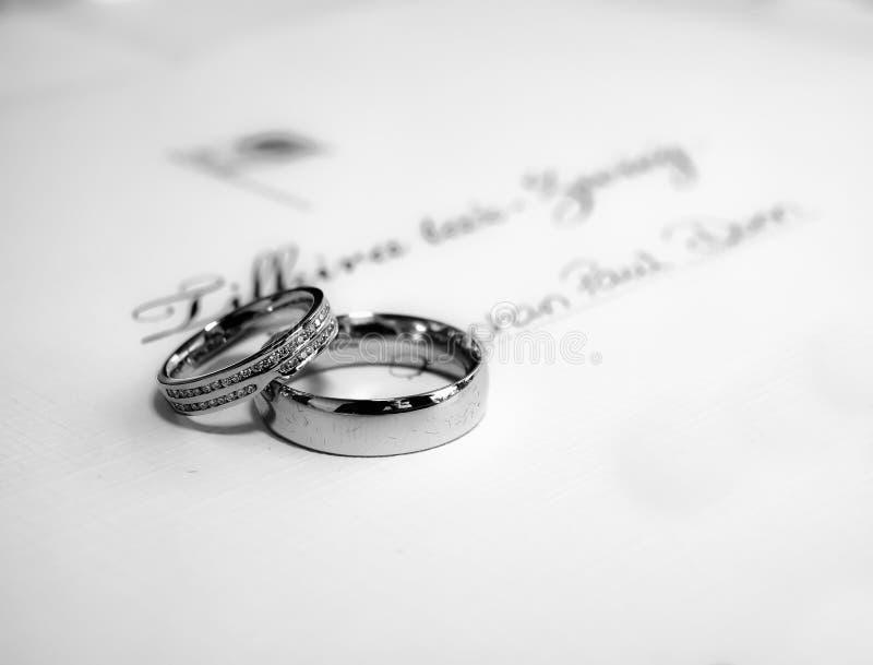 Faixa de casamento foto de stock