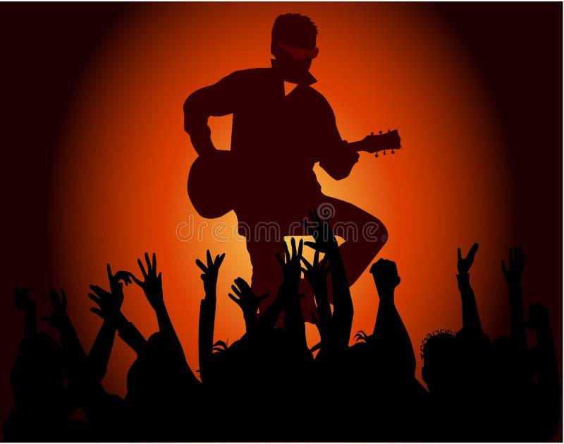 Faixa de concerto dos músicos do partido ilustração do vetor