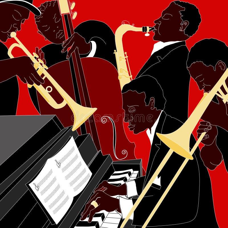 Faixa de jazz ilustração royalty free