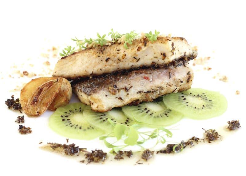 Faixa de peixes fritada imagem de stock royalty free