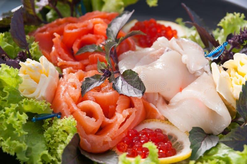 Faixa de um salmão. fotografia de stock