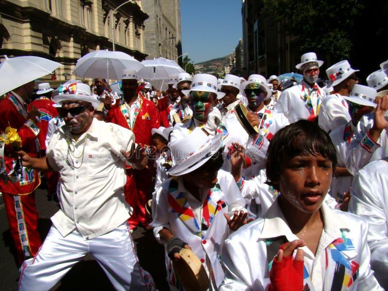 Faixa do carnaval do Minstrel de Cape Town foto de stock royalty free