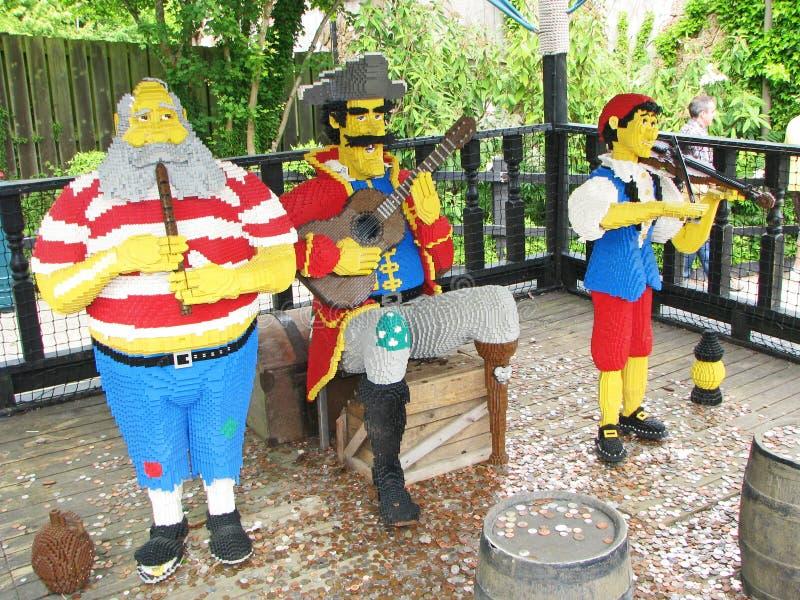 Faixa do pirata de Lego foto de stock royalty free
