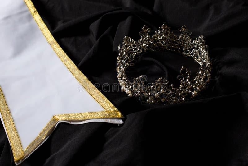Faixa do vencedor para a senhorita Pageant Beauty Contest imagens de stock