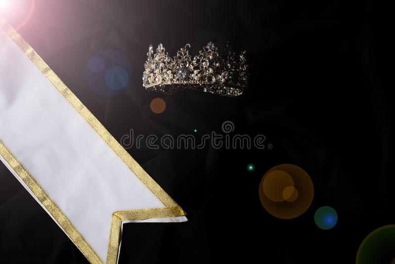 Faixa do vencedor para a senhorita Pageant Beauty Contest foto de stock