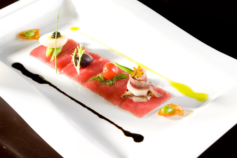 Faixa dos salmões do gourmet imagens de stock