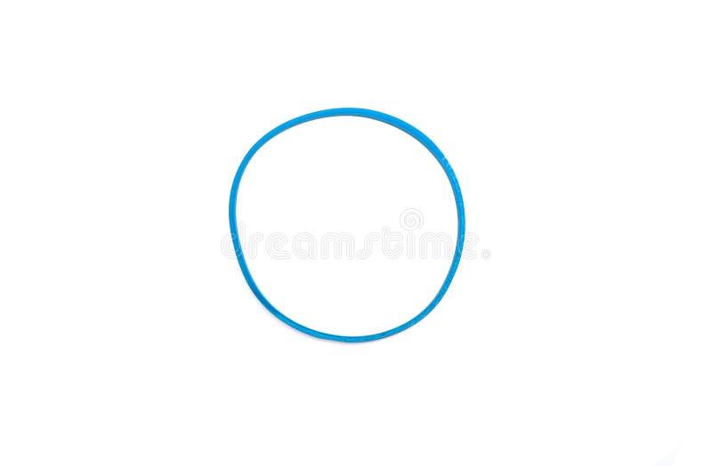 Faixa elástica azul para os papéis isolados no fundo branco imagens de stock royalty free