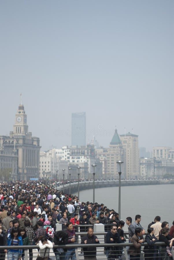 A faixa em Shanghai foto de stock