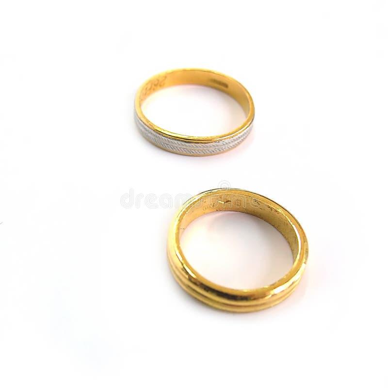 Faixas De Casamento Fotografia de Stock