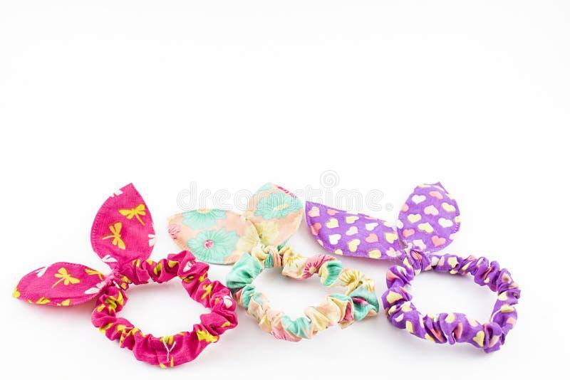 Faixas elásticas coloridas para o cabelo imagem de stock royalty free