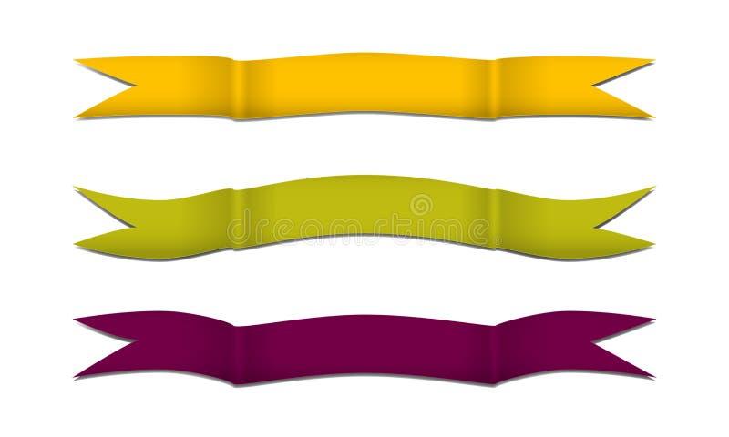 Faixas onduladas para a mola ilustração stock