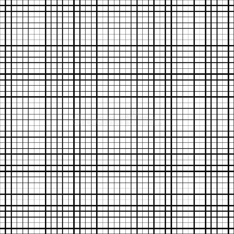 Faixas pretas horizontais e verticais ilustração do vetor