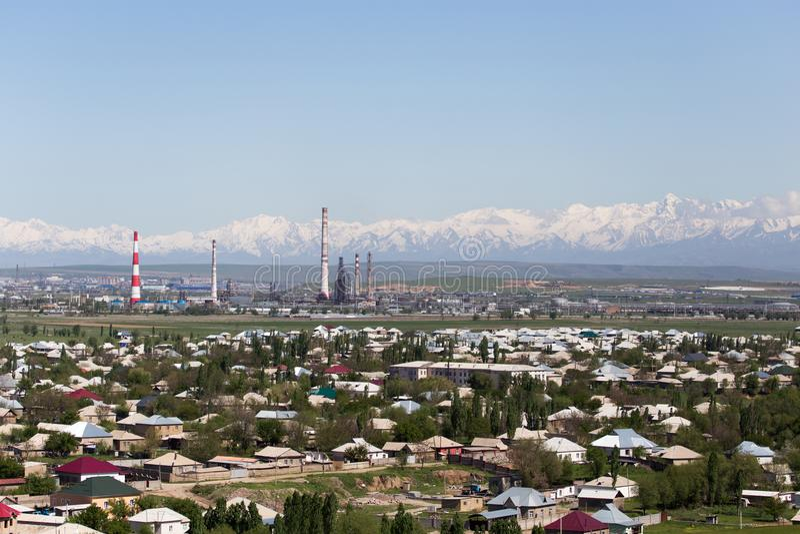 Fajczana roślina w Shymkent kazakhstan fotografia stock