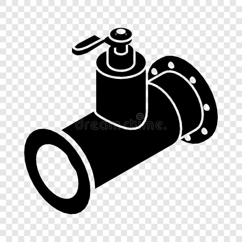 Fajczana wodna ikona, prosty czer? styl ilustracja wektor