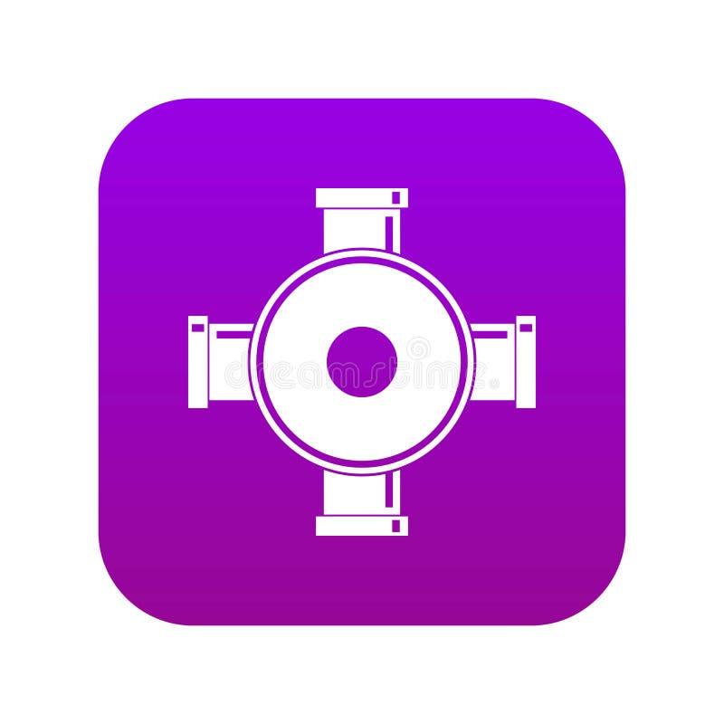 Fajczanego dopasowania ikony cyfrowe purpury ilustracja wektor