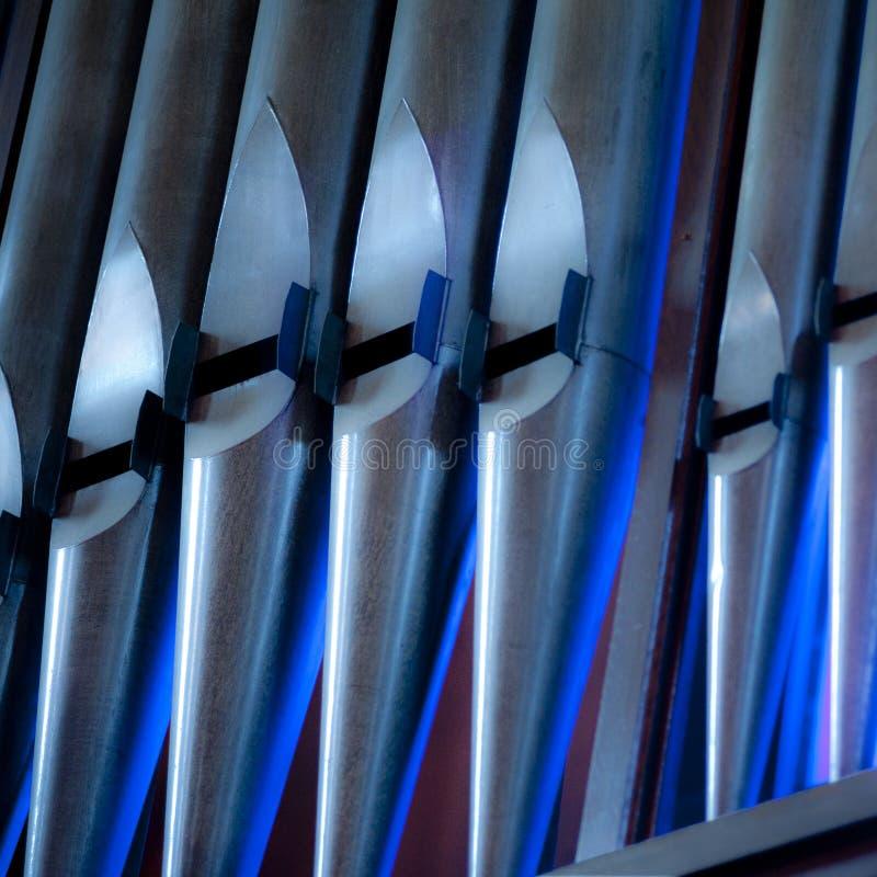 Fajczanego organu 7 drymby błękitne i srebne zdjęcia royalty free