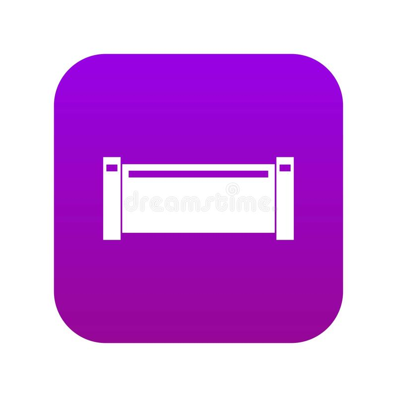 Fajczanej kawałek ikony cyfrowe purpury royalty ilustracja