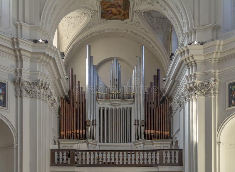 Fajczany organ przy Neumuenster Uczelnianym kościół zdjęcia stock
