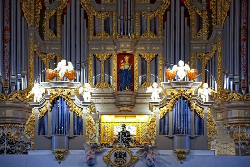 Fajczany organ w Kaliningrad obrazy royalty free