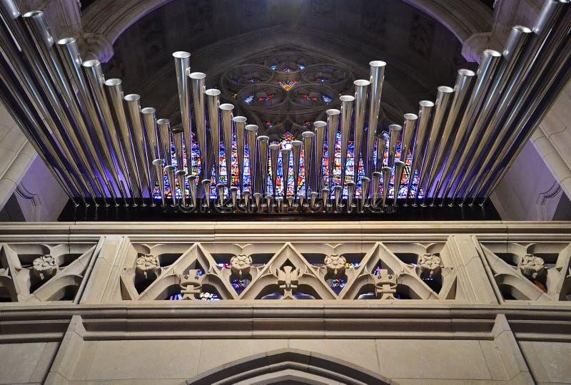 Fajczany organ w Michigan kościół obraz stock