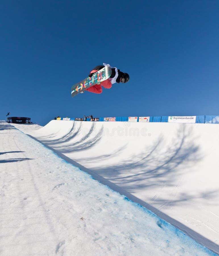 fajczany połówki snowboard zdjęcia royalty free
