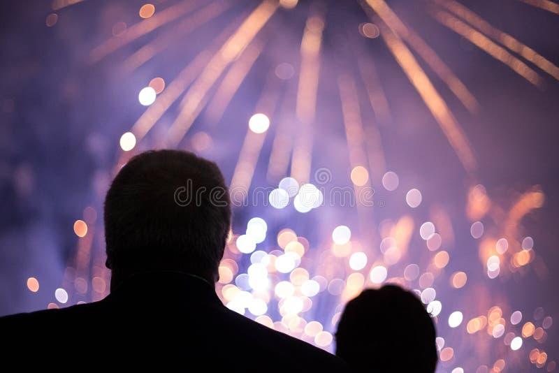 fajerwerków target1177_1_ ludzie zdjęcia royalty free