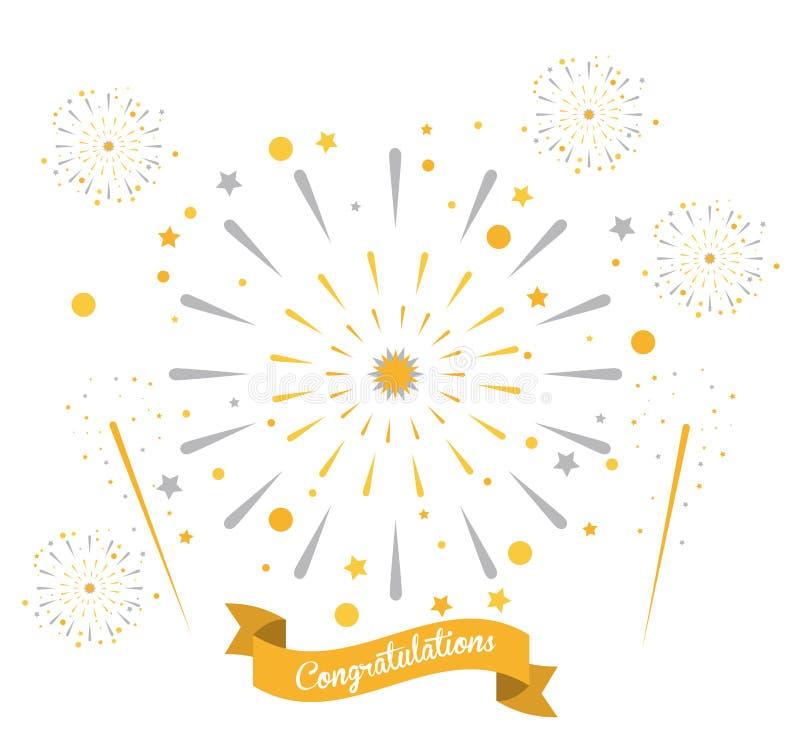 Fajerwerk gratulacje i świętowania royalty ilustracja