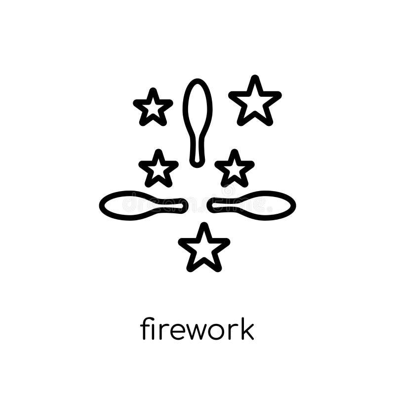 Fajerwerk ikona od Bożenarodzeniowej kolekcji royalty ilustracja