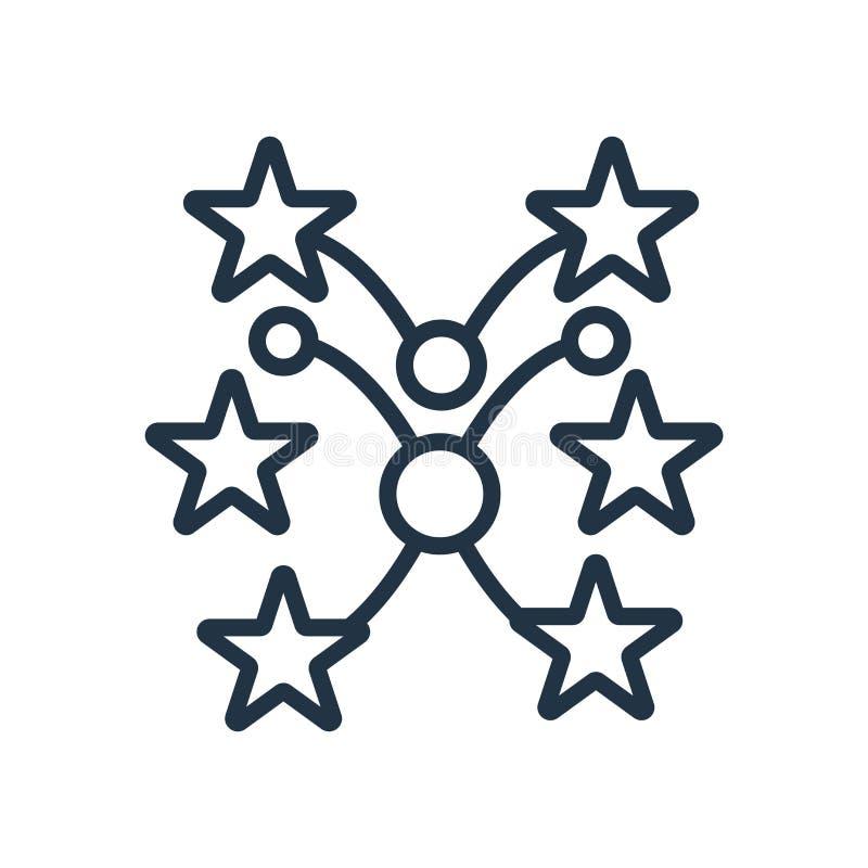 Fajerwerk ikony wektor odizolowywający na białym tle, fajerwerki podpisuje royalty ilustracja
