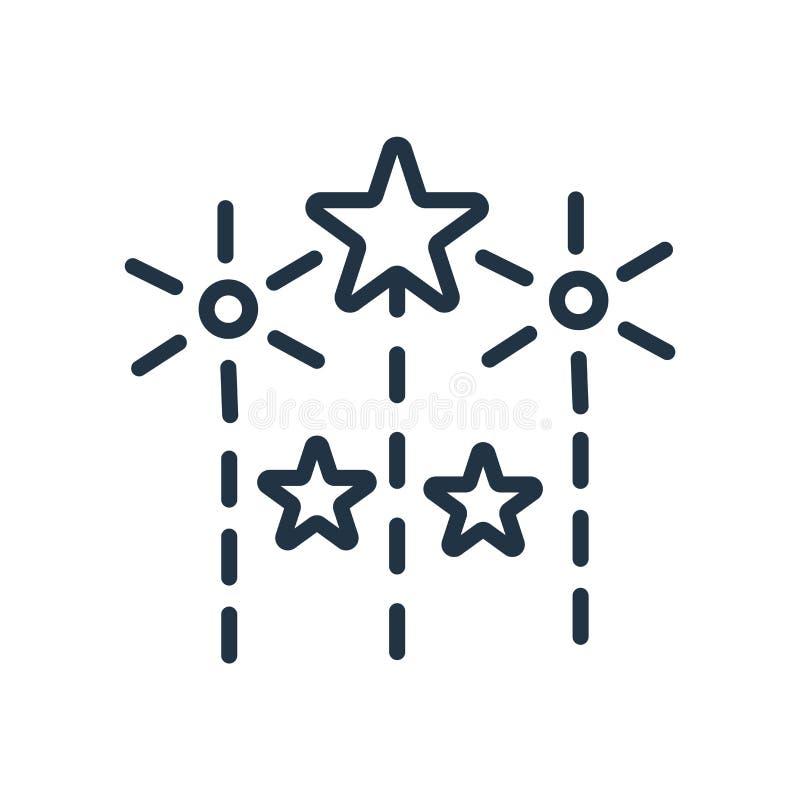 Fajerwerk ikony wektor odizolowywający na białym tle, fajerwerki podpisuje ilustracji