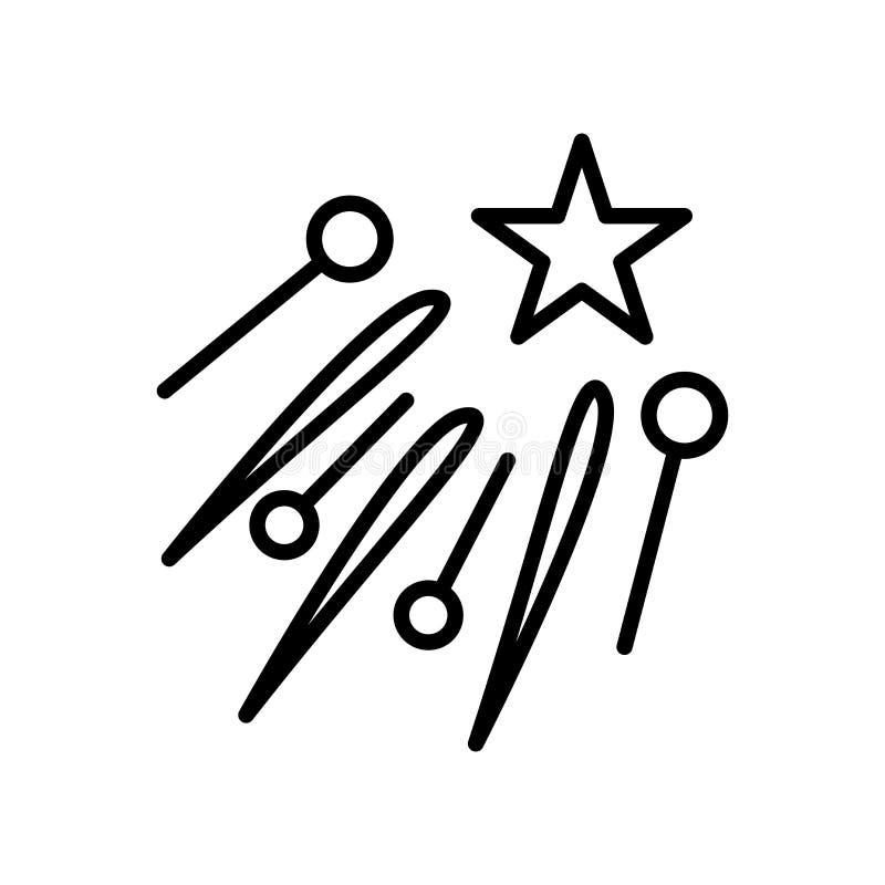 Fajerwerk ikony wektor odizolowywający na białym tle, fajerwerki podpisuje ilustracja wektor