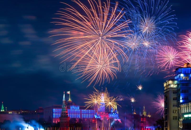 fajerwerk Moscow zdjęcia stock