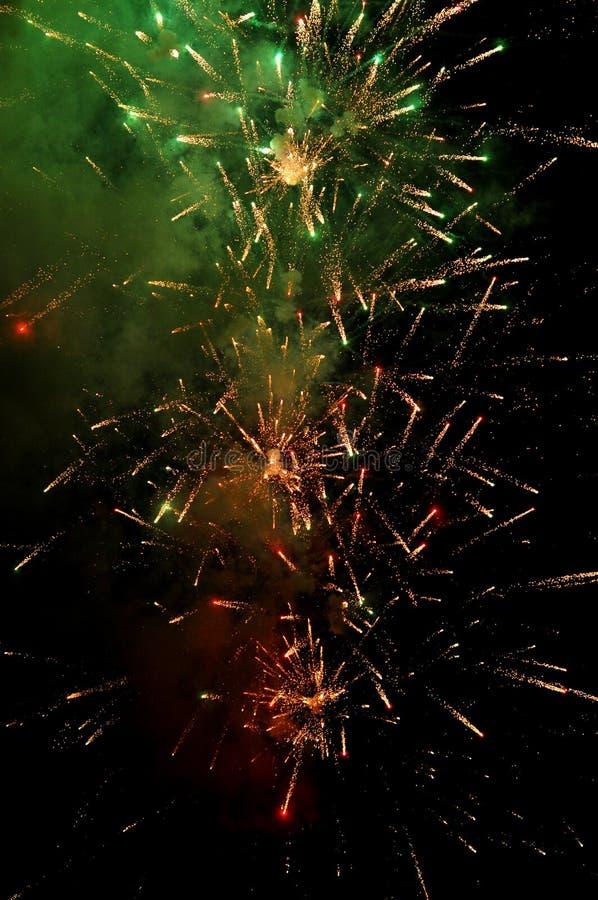 Fajerwerk nocy Abstrakcjonistyczny świętowanie Kolorowy fotografia stock