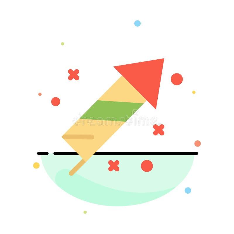 Fajerwerk, ogień, wielkanoc, dnia koloru ikony Abstrakcjonistyczny Płaski szablon ilustracji